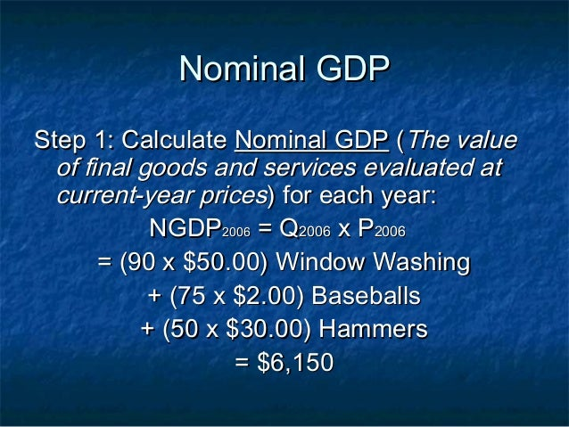 nominal gdp step 1 calculate
