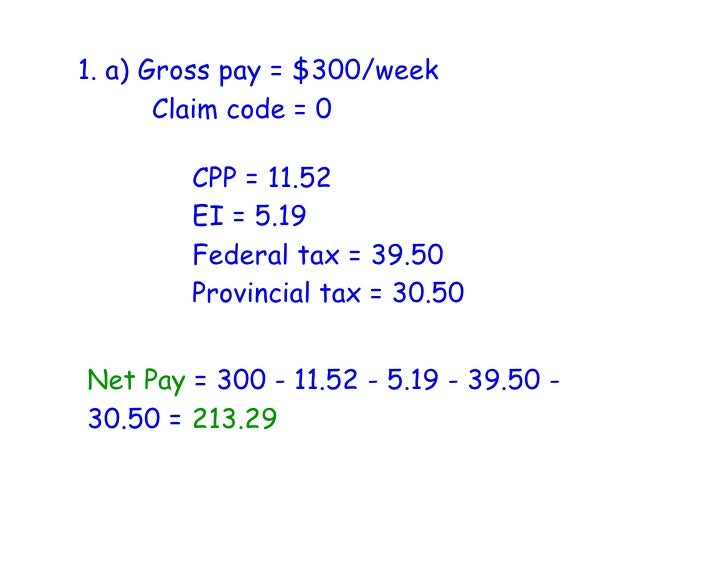 Calculating Net Pay Assignment  Calculating Net Pay Assignment