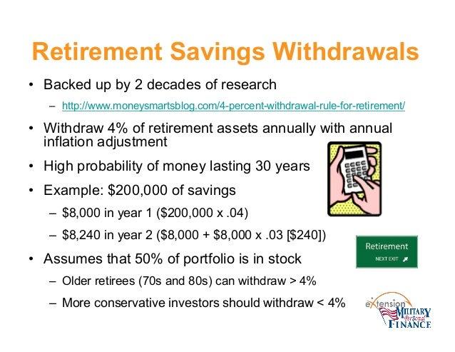 Retirement Savings Withdrawals ...