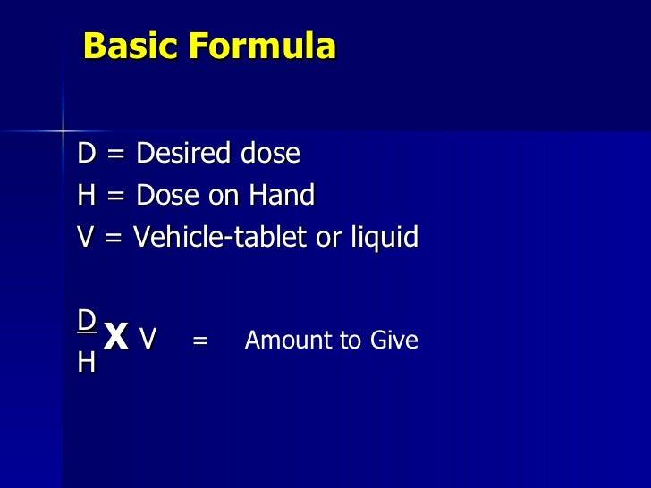 Drug Calculation