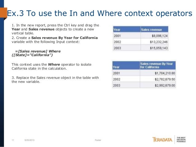 Calculation contex in sap business objects