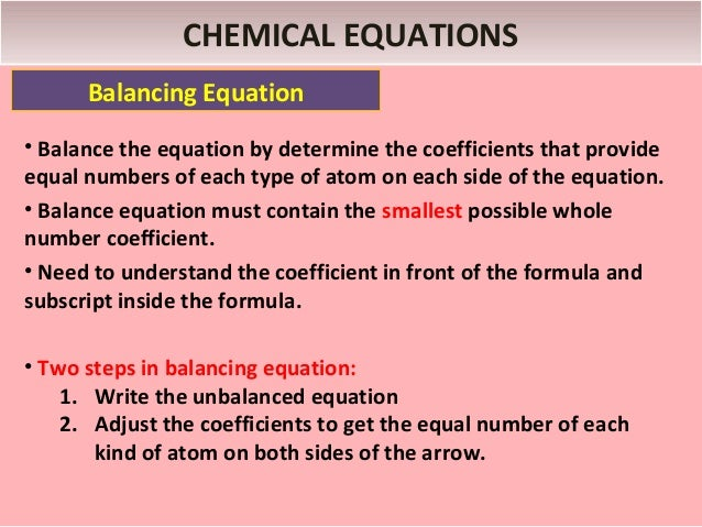 CALCULATIONS WITH CHEMICAL FORMULAS AND EQUATION