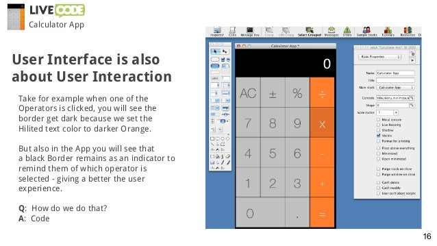 Calculator App Take for example when one of the Operators is clicked, you will see the border get dark because we set the ...