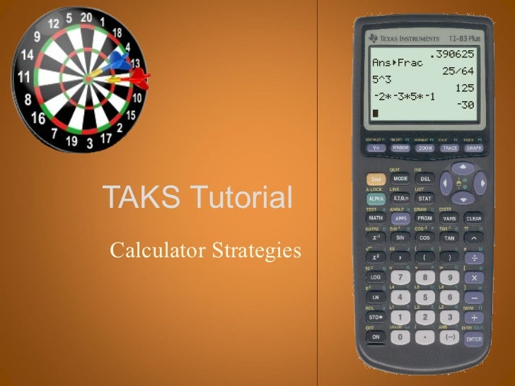 TAKS TutorialCalculator Strategies