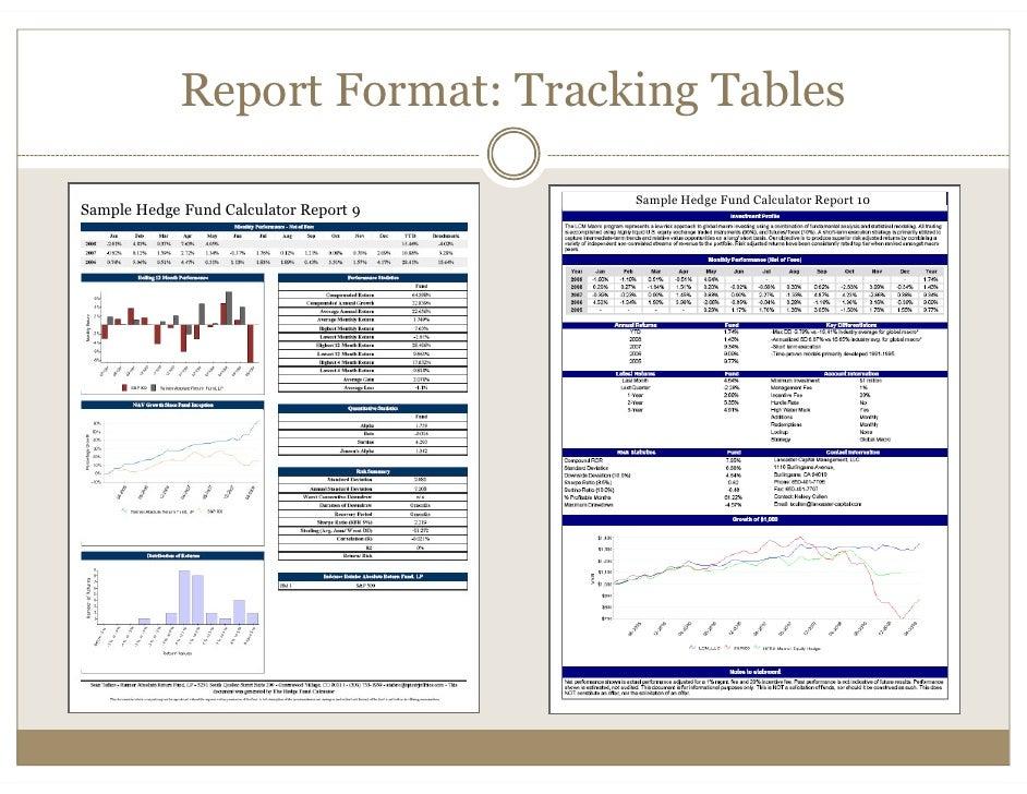 hedge fund report