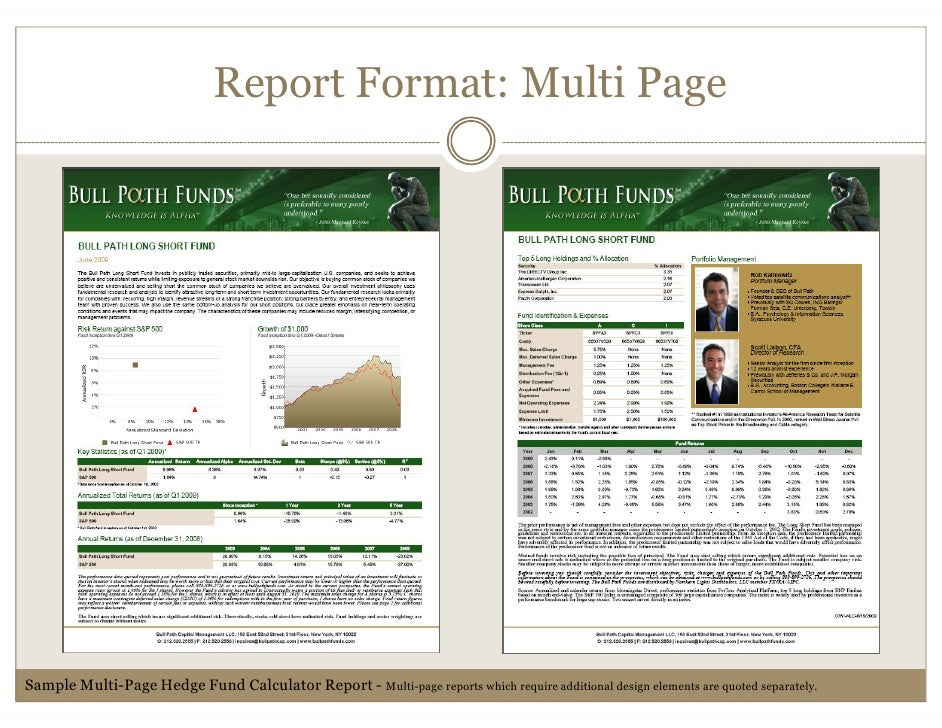 Hedge fund tearsheets created by the hedge fund calculator pronofoot35fo Choice Image