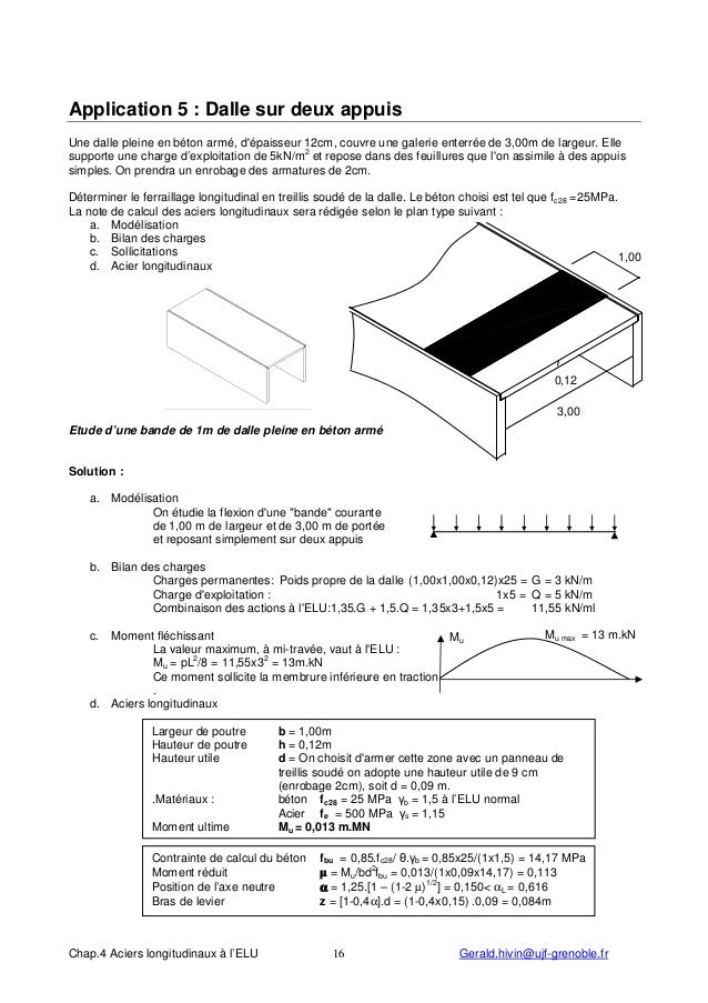 Calcul beton pour dalle awesome beton libre with calcul - Calcul dalle beton ...