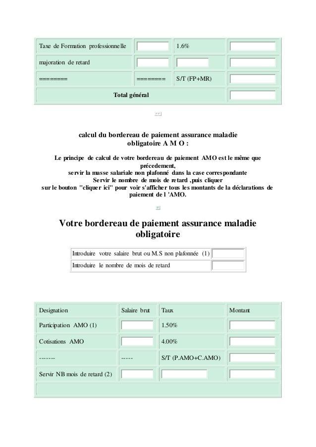 DE CNSS BORDEREAU TÉLÉCHARGER PAIEMENT