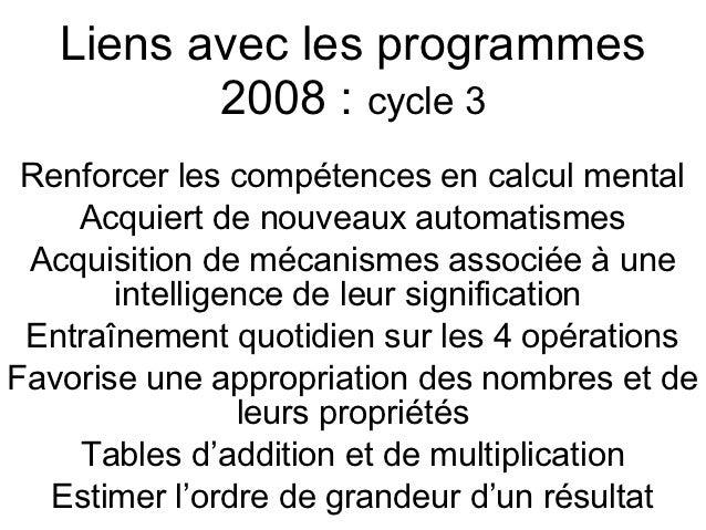 Le calcul mental pratique des jeux et des tice - Calcul mental table de multiplication ...