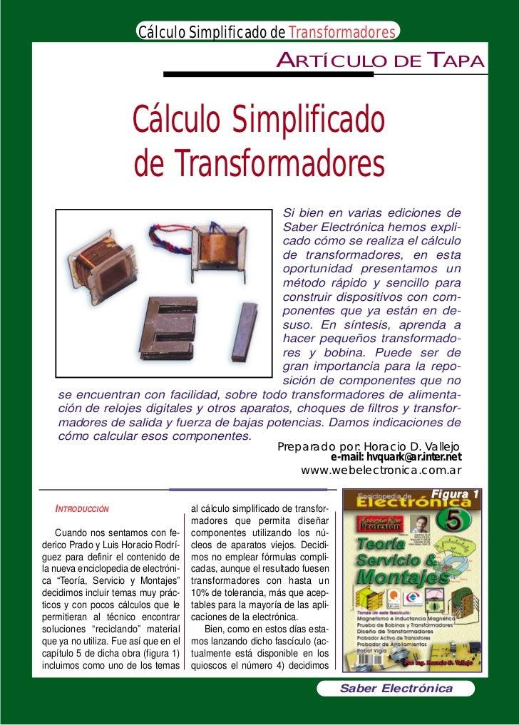 Cálculo Simplificado de Transformadores                                                              ARTÍCULO             ...