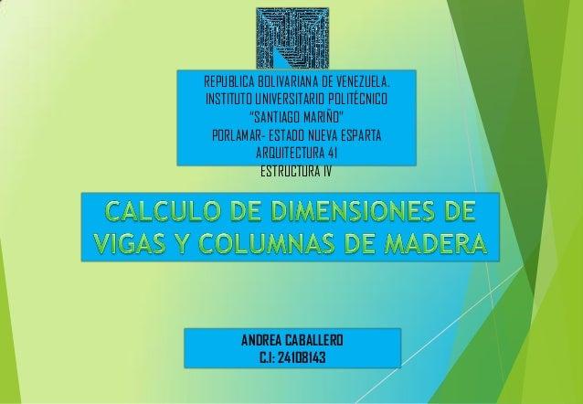 """REPUBLICA BOLIVARIANA DE VENEZUELA. INSTITUTO UNIVERSITARIO POLITÉCNICO """"SANTIAGO MARIÑO"""" PORLAMAR- ESTADO NUEVA ESPARTA A..."""