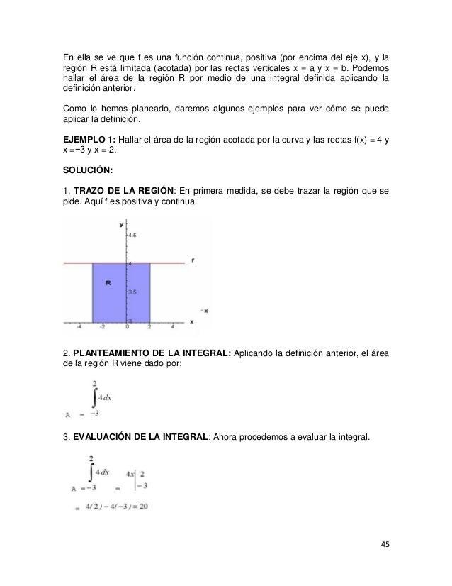 En ella se ve que f es una función continua, positiva (por encima del eje x), y laregión R está limitada (acotada) por las...