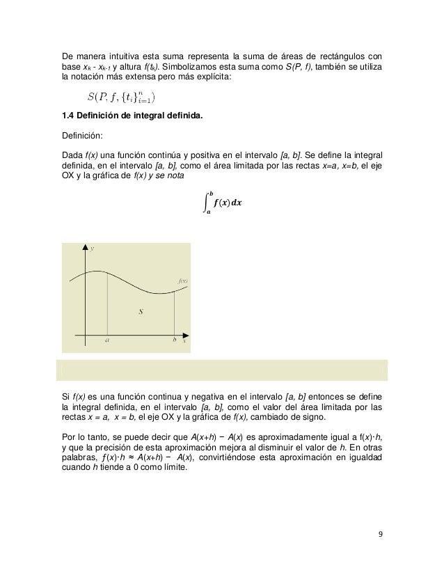 De manera intuitiva esta suma representa la suma de áreas de rectángulos conbase xk - xk-1 y altura f(tk). Simbolizamos es...
