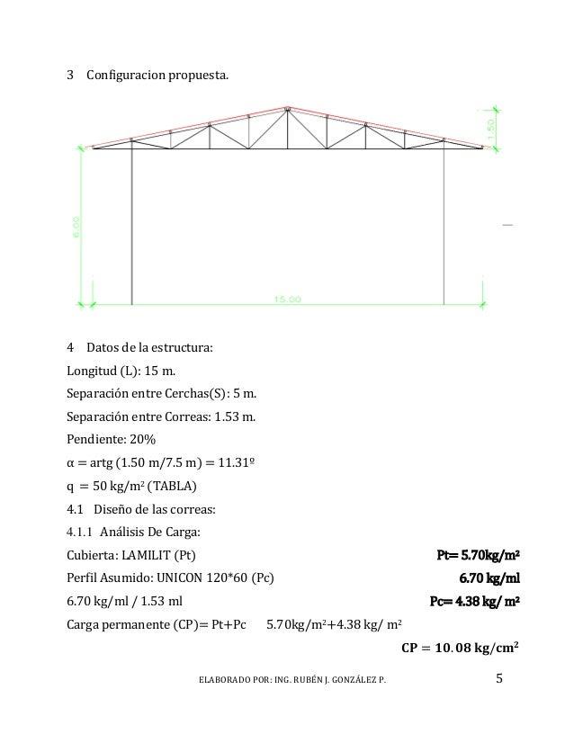 Calculo de estructura metalica tipo galpon - Tipos de estructura metalica ...
