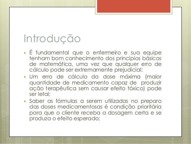 ae337ce023 Calculo de medicação