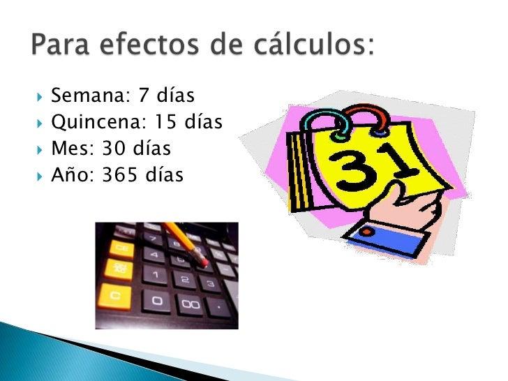 Calculo De Prestaciones Y Salarios Slide 2