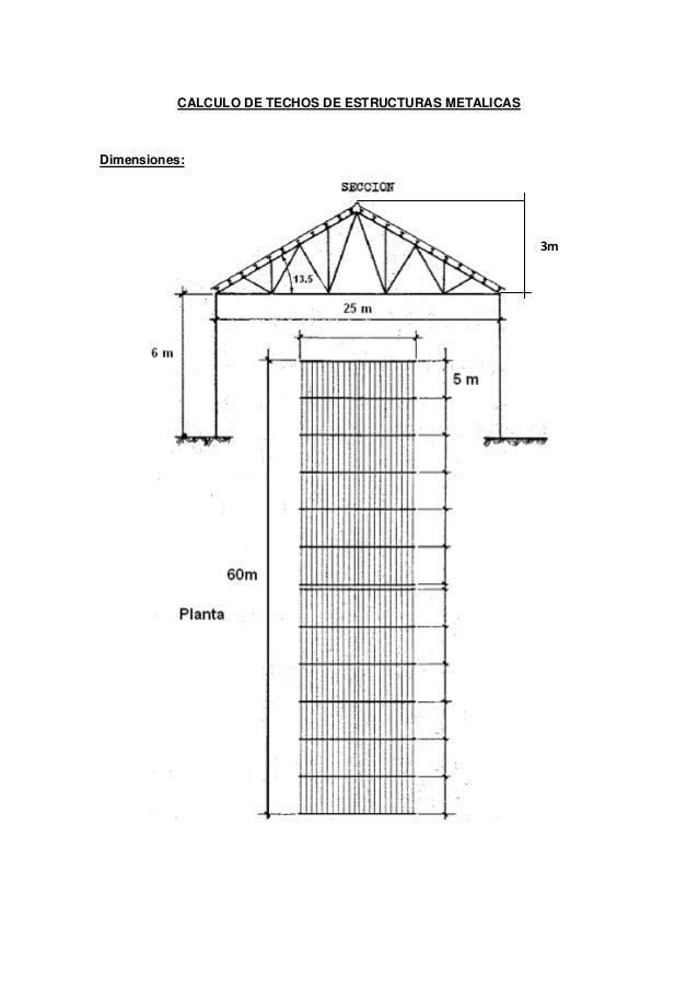 calculo de techos de estructuras metalicas hojas de