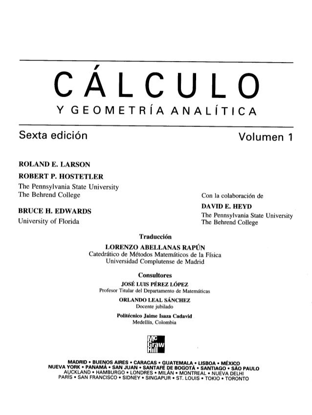 Calculo vol 1 larson hostetler edwards