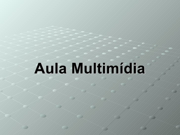Aula Multimídia