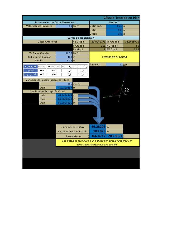 Cálculo Trazado en Planta por Cristóbal Cuyar        Introduccion de Datos Generales 1                              Rectas...