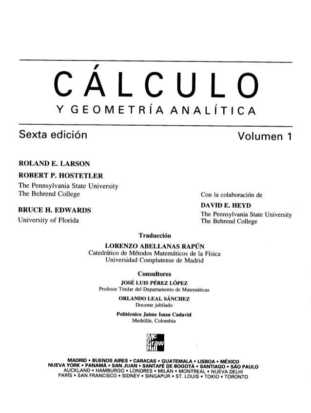 Calculo vol.1   larson - hostetler