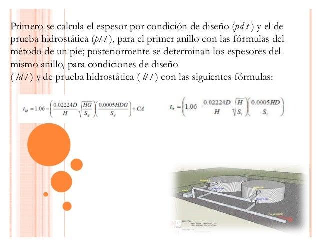 Relacion diametro altura para tanques