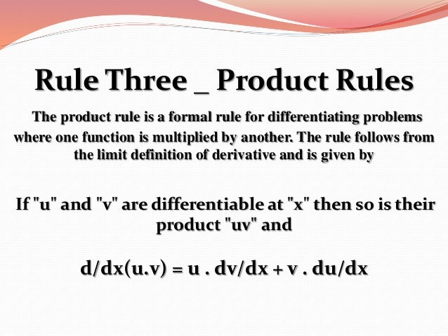 the significance of the chain rule in the differential calculus Differential calculus chapter 4: basic differentiation rules section 4: the chain rule page 1 roberto's notes on differential calculus.