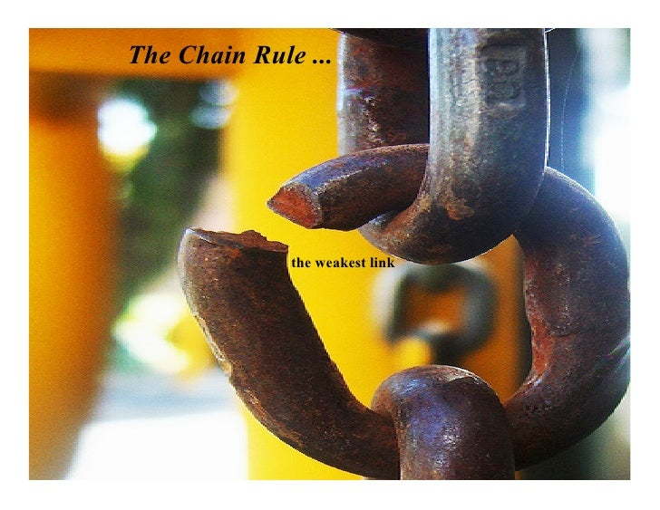 The Chain Rule ...                   the weakest link