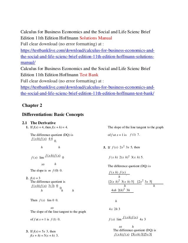 calculus for business economics and the social and life scienc brief rh slideshare net PDF Calculus for Business Calculus for Business Economics