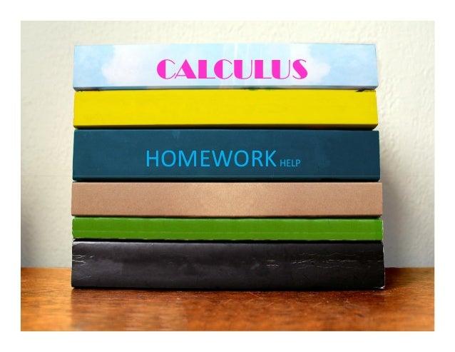Calculus assignment help