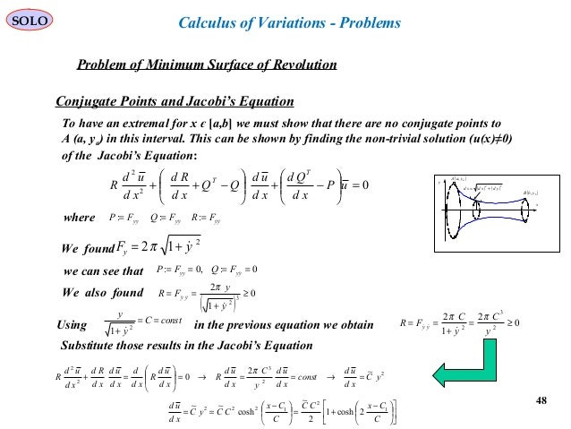 Calculus of variation problems