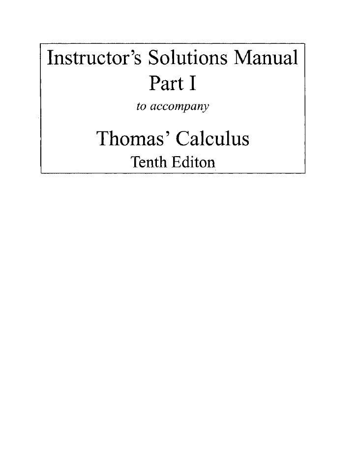University Calculus Solution Manual Pdf