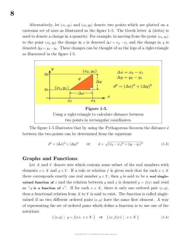 8Alternatively, let (x1, y1) and (x2, y2) denote two points which are plotted on acartesian set of axes as illustrated i...