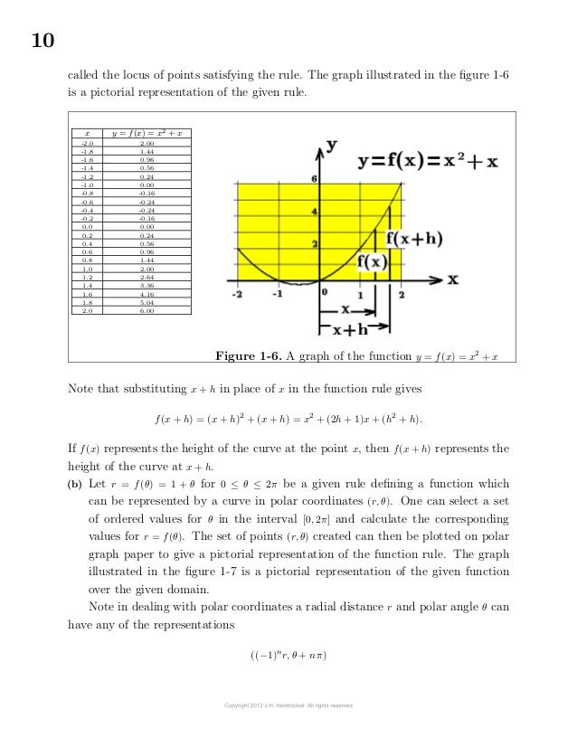 10called the locus of points satisfying the rule. The graph illustrated in the figure 1-6is a pictorial representation of...