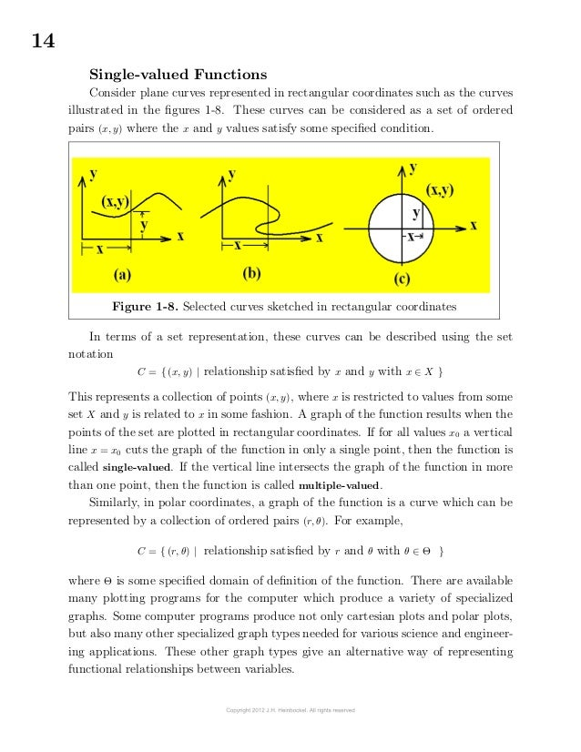 14Single-valued FunctionsConsider plane curves represented in rectangular coordinates such as the curvesillustrated in ...