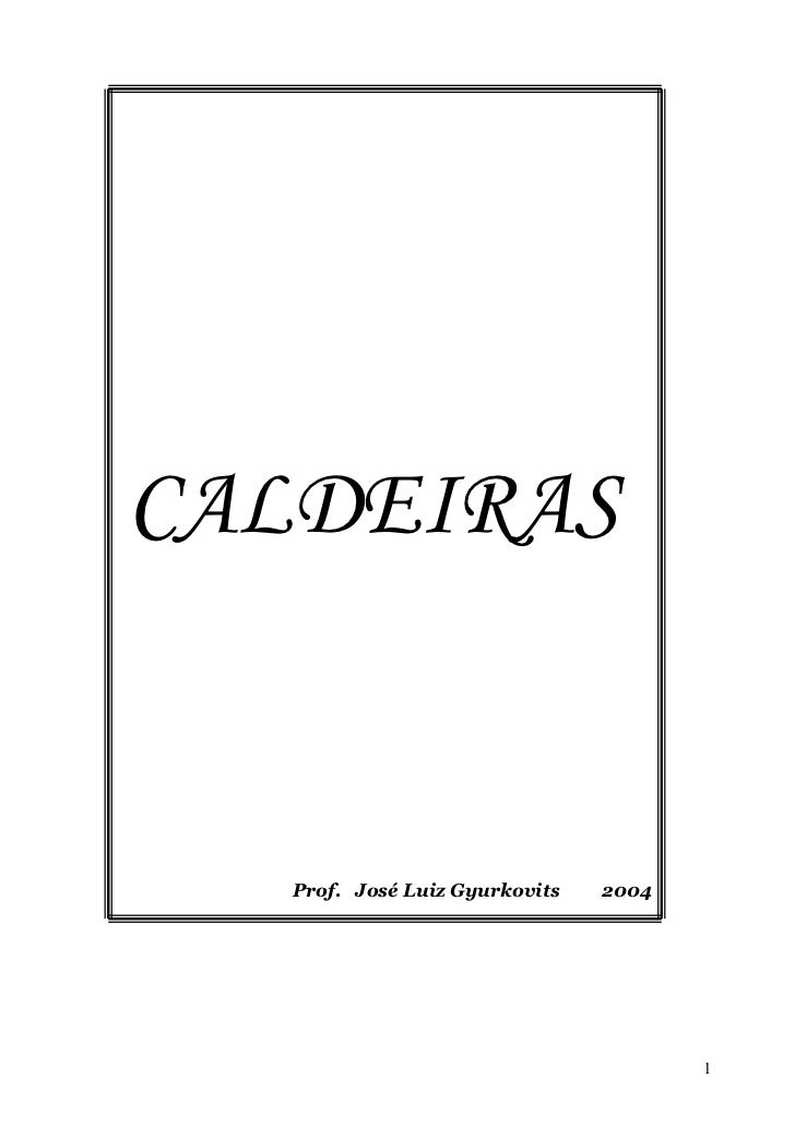 CALDEIRAS      Prof. José Luiz Gyurkovits   2004                                            1