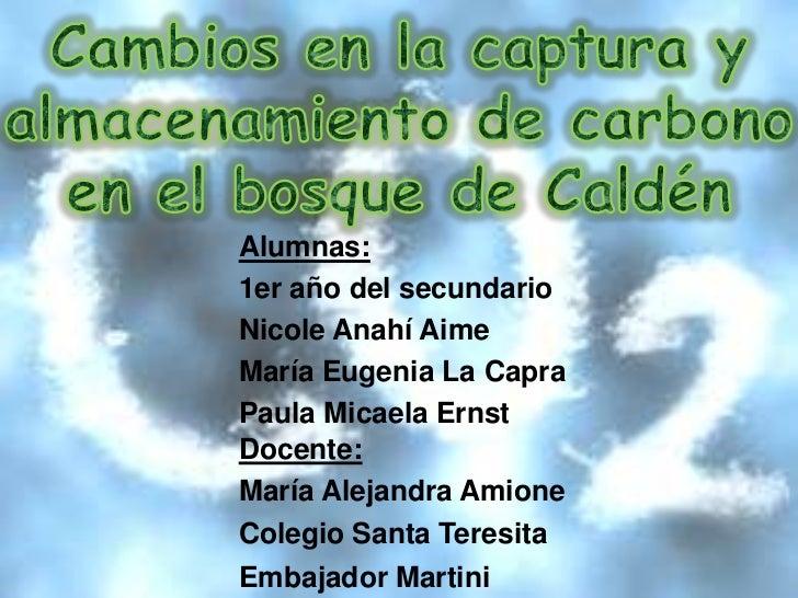 Alumnas:1er año del secundarioNicole Anahí AimeMaría Eugenia La CapraPaula Micaela ErnstDocente:María Alejandra AmioneCole...