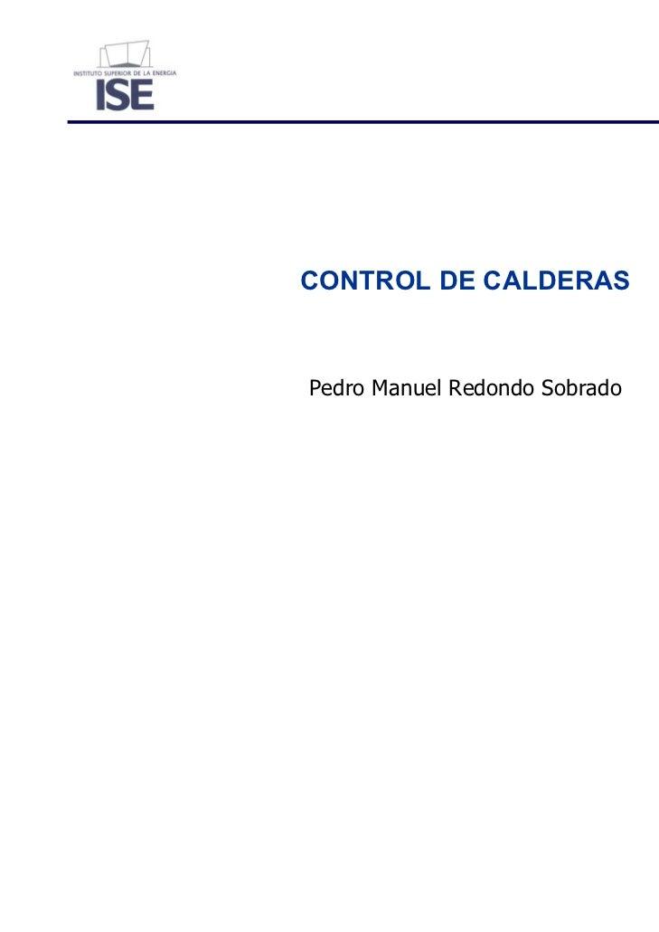 CONTROL DE CALDERASPedro Manuel Redondo Sobrado