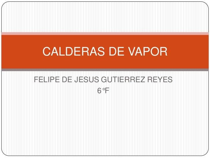 FELIPE DE JESUS GUTIERREZ REYES<br />6°F<br />CALDERAS DE VAPOR <br />