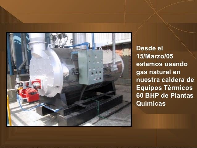 Calderas de vapor experiencias conversion a gas natural for Caldera mural a gas