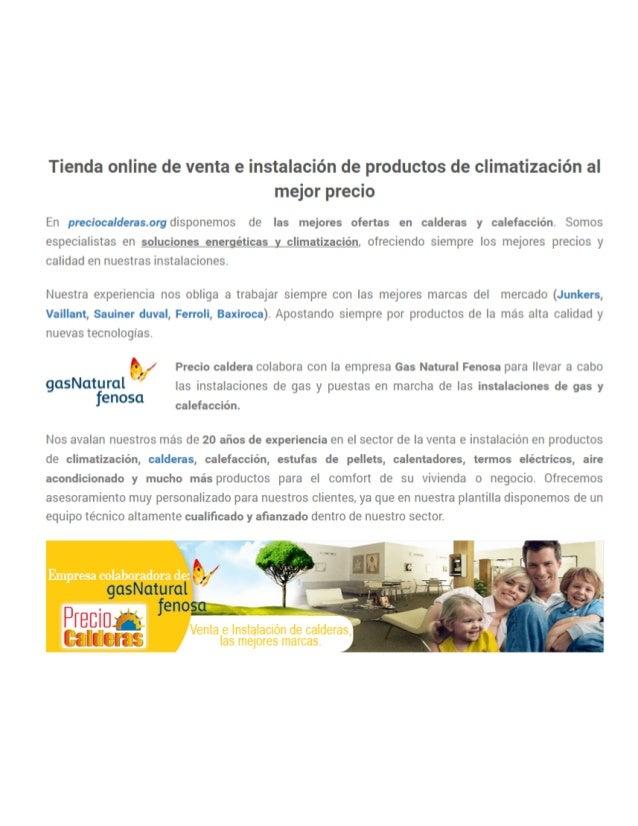 Calderas gas natural - Calderas gas natural precios ...