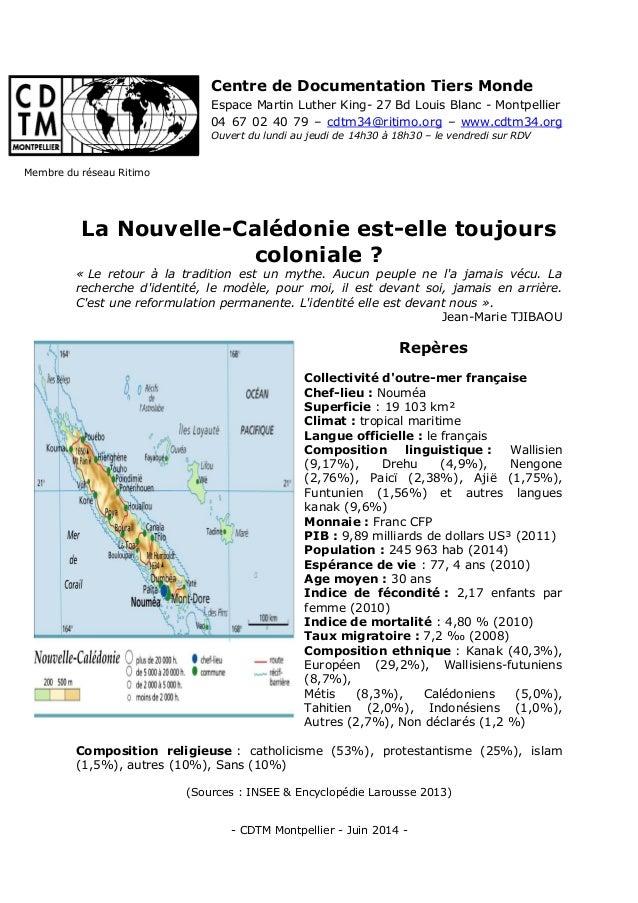 - CDTM Montpellier - Juin 2014 - Centre de Documentation Tiers Monde Espace Martin Luther King- 27 Bd Louis Blanc - Montpe...