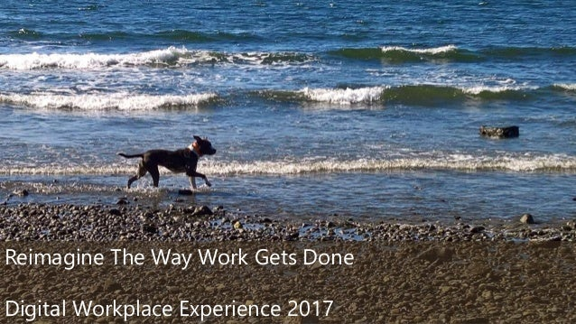 ©2017 Avanade Inc. All Rights Reserved. 1 Reimagine The Way Work Gets Done Digital Workplace Experience 2017
