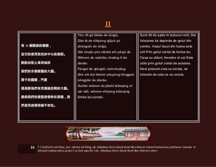 11                                        Yǒu 30 gè fútiáo de lúngǔ,                         Sunt 30 de spite în butucul r...
