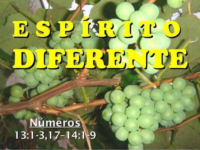 ESPÍRITODIFERENTE  Números13:1-3,17–14:1-9