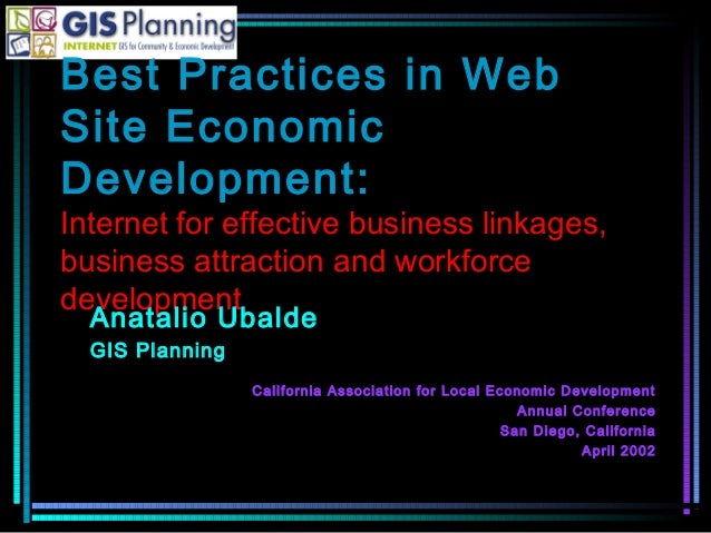 Best Practices in WebSite EconomicDevelopment:Internet for effective business linkages,business attraction and workforcede...