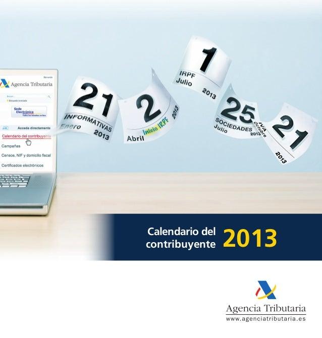 Calendario delcontribuyente    2013