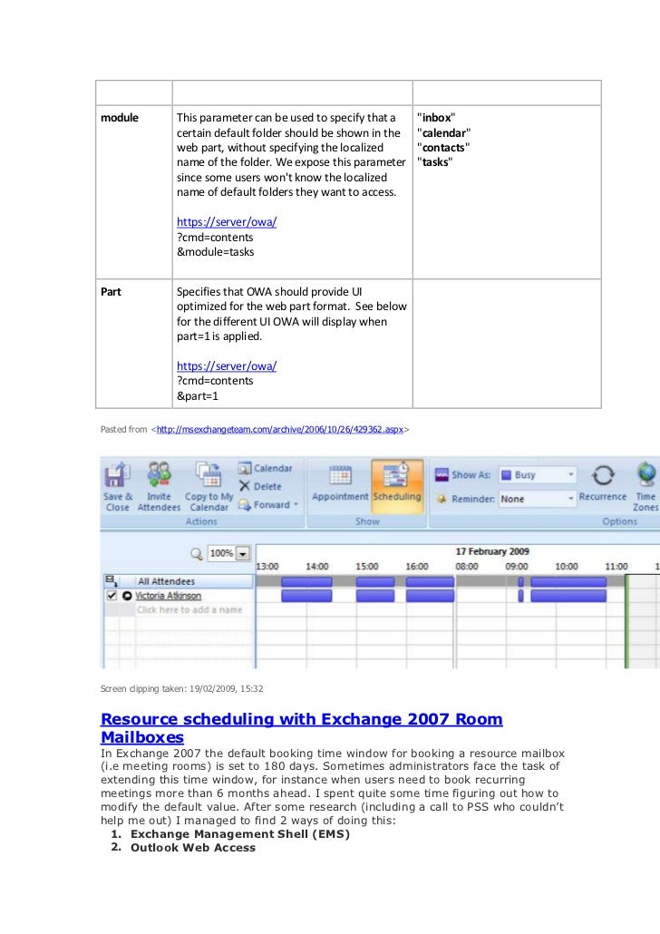 Exchange 2007 / Outlook 2007 Free/ Busy Info not showing up