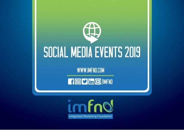 Social Media Events 2019 - imfnd