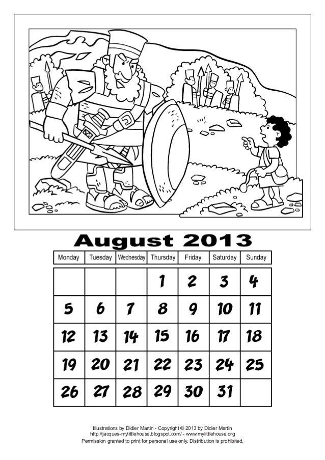 Calendar aug-2013